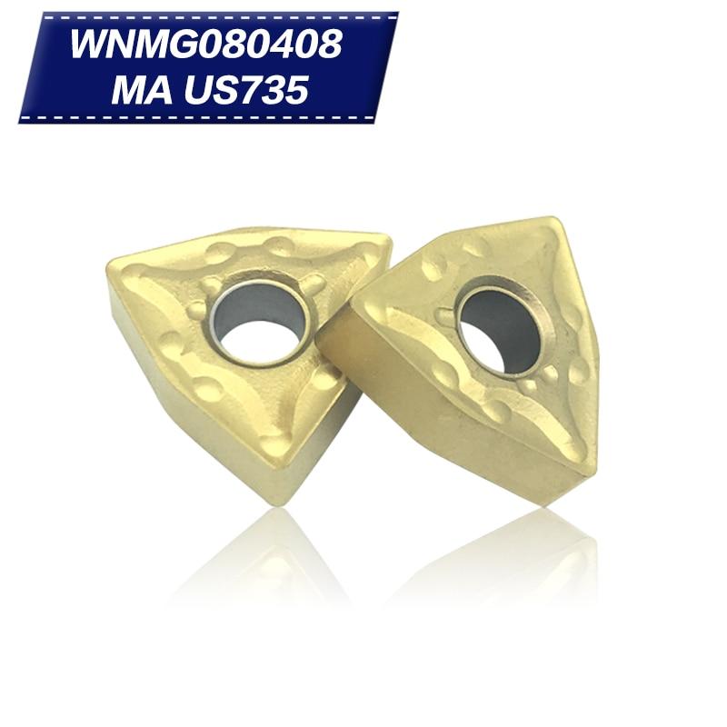 100 عدد WNMG080408 MA US735 ابزارهای عطف خارجی - ماشین ابزار و لوازم جانبی
