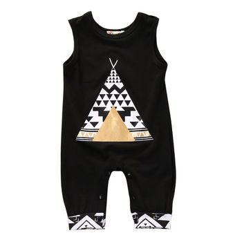 Summer arrival cute kid rompers Cotton Toddler Kids Baby Boy Girl sleeveless Romper Jumper Jumpsuit casual kid Outfit Clothes 1