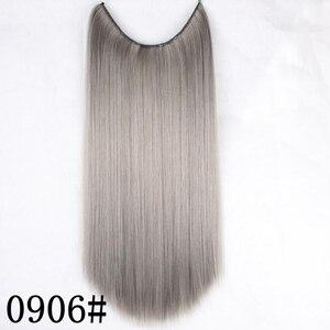 Невидимая проволока JOY & BEAUTY для наращивания волос, 22 дюйма, без зажимов, 120 г, высокотемпературное волокно, синтетические волосы, секретная р...