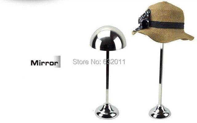 Mirror silvery retro stainless Metal Hat display stand hat display rack hat holder cap display hat holder rack