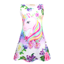 2019 Summer baby girl clothes unicorn dress sleeveless princess kids for girls vestidos 1734