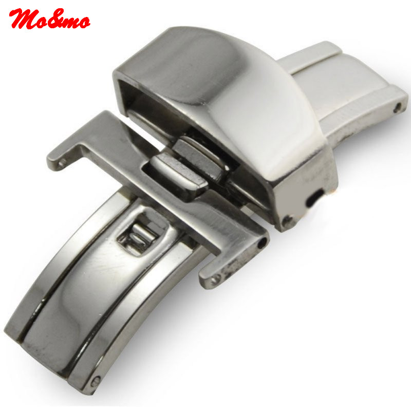 цены на Butterfly Deployment Buckle Stainless Steel Clasp Strap For Watch Bands 16/18/20mm watchband Clasp в интернет-магазинах