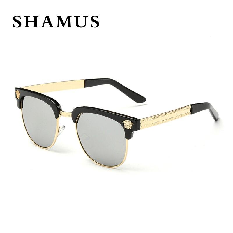 4087f991f6656 SHAMUS Marque de lunettes de Soleil UV400 Lunettes Magnifique Rectangle Cadre  lunettes de Soleil Femmes Vintage