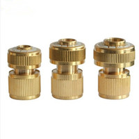 3/81/23/4Brass Flow Connector Water Connection Quick Joint Car Wash Water Gun Hose End Fittings Garden Hose