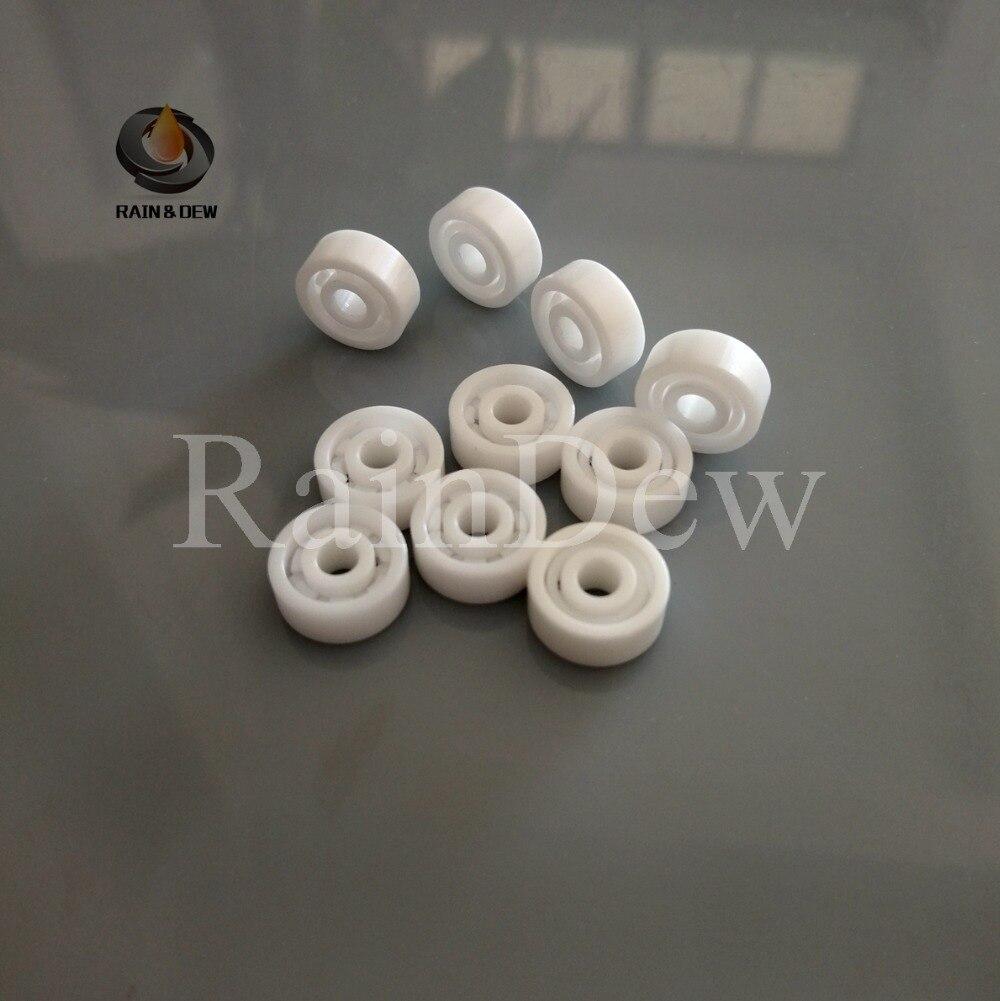 5pcs 623 ZrO2 full Ceramic bearing 3x10x4 mm Zirconia Ceramic deep groove ball bearings 3 10