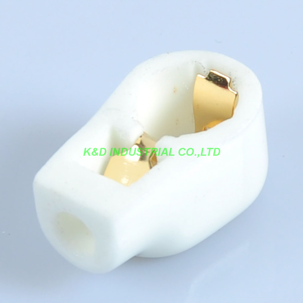 5pcs GOLD Plated Tube Anode Caps EF37 EF39 12E1 FU519 EL504 Ceramic Socket
