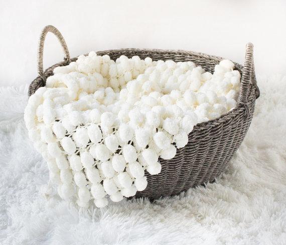 Mini coperta pom pom tessuto tappeto mat prop neonato prop popcorn foto coperta neonato prop