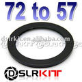 Aluminum Black 72mm-57mm 72-57 72 to 57 Step Down Ring Filter Adapter