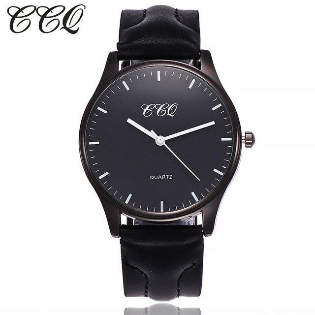 CCQ Men Watches Top Luxury Popular Brand Watch Man Quartz Black Watches Men Cloc