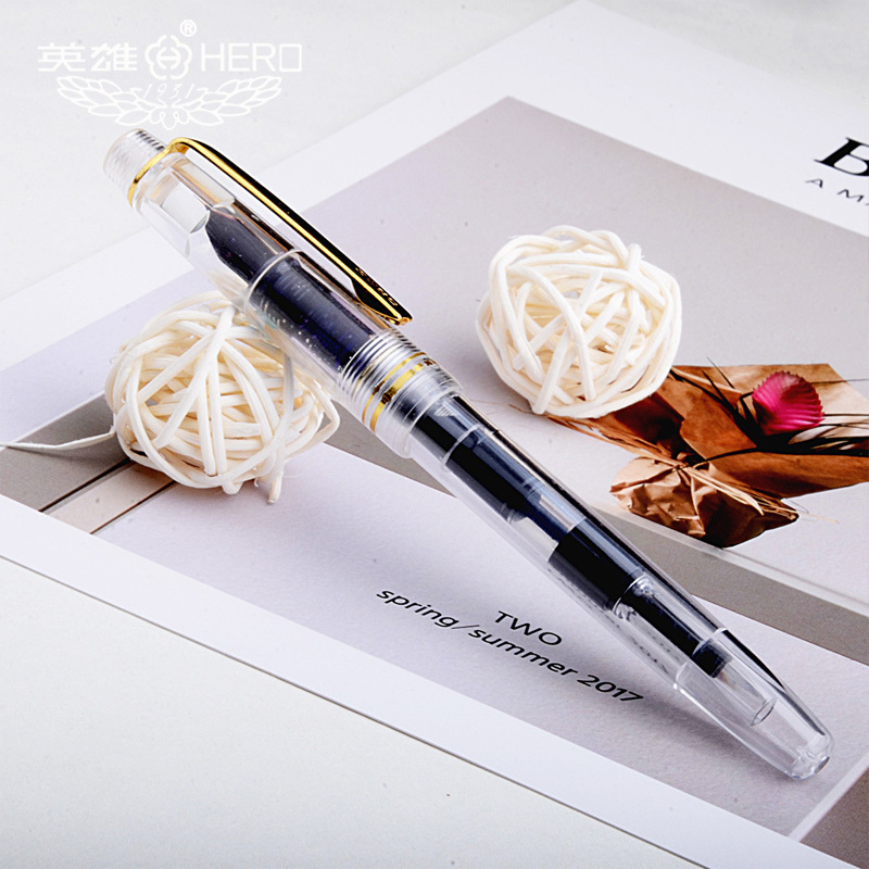 Luxury lucency Fountain Pen High quality ink pens calligraphy pen pens pencils & writing supplies School Office Gift Stationery 1pcs iraurita fountain pen metal luxury pens jinhao stationery office school supplies writing gifts ink hero calligraphy pen