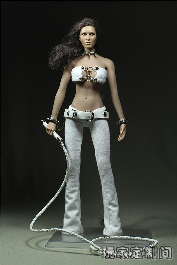 Sexy 1/6 Scale Customize Clothing White Dress Executive torturer For 12 PH Female Large Bust Figure Doll Toys Accessories sexy 1 6 scale customize clothing for 12 phicen female large medium bust figure cowgirl doll toys accessories p20