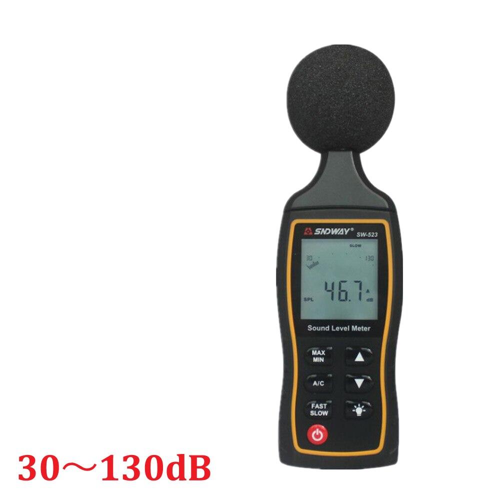 2018 nouveau niveau sonore numérique LCD décrire le compteur 30-130dBA 1.5 dB précision compteur de niveau sonore numérique rétro-éclairage testeur de bruit