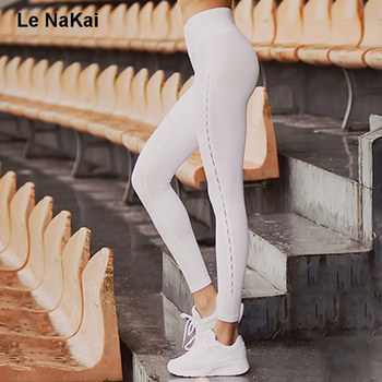 Side Cut out Stitched Sexy Women Yoga Leggings Fitness Running Tights Thick Elastic Yoga Pants Wide Waist Workout Sports Legging tights
