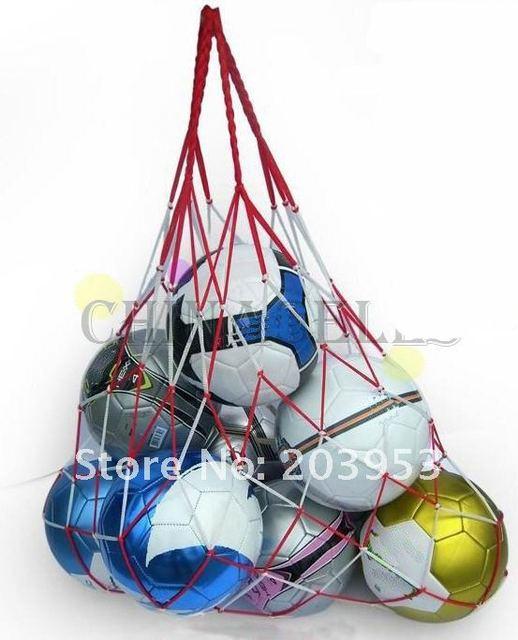 Filet de football sportif en plein air, sac de transport de 10 balles, équipement Portable de sport, sac de basket-ball, de volley-ball, 1 pièces 2