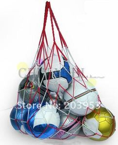 Сетчатая Сумка для переноски спортивных мячей, 1 шт., 10 мячей, портативное оборудование для занятий спортом, баскетболом, волейболом