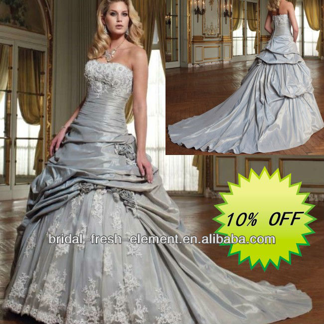 Cheap Hot Sale Long Good Quality Taffeta Exquisite Strapless