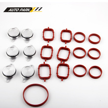 Set of 6 x 33mm OEM design by aluminum For BMW Swirl Flap Blanking Plates seal with intake manifold gasket 6 cylinder  carchet for vauxhall saab alfa z19dth 1 9 cdti tid jtd inlet intake manifold swirl flap rod inlet intake manifold swirl flap