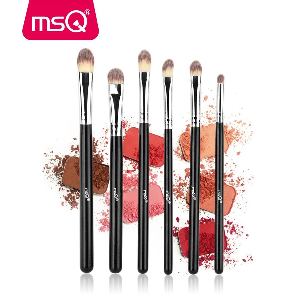 MSQ 6pcs Eyeshadow Makeup Brushes Set Professional Eye Brush Eye Shadow Blending Make Up Tools High Quality Soft Synthetic Hair