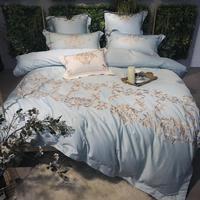Queen king size 4/7Pcs Duvet Cover Bed sheet set Pillowcase Embroidery Luxury Bedding Set Egyptain Cotton Bed set parure de lit