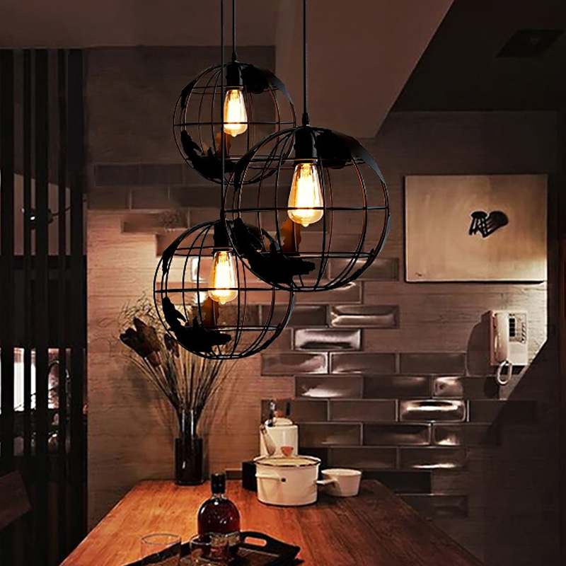 Earth Globe Lamp Light Iron Pendant Shade 2 Color For Kitchen Island Dining Room Restaurant Decoration 110V 220V E27 In Lights From