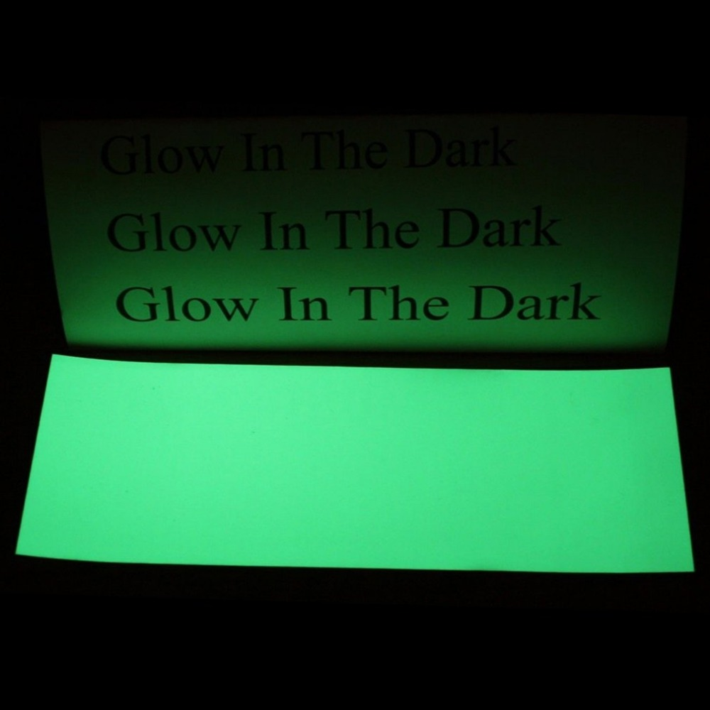 Luminous Green PET None-Radioactive Stylish 8 * 3 inch Luminous Green Glow In The Dark Tape Self Adhesive Sticker Sheet 3 meters glow in the dark luminous vinyl heat trasnfer film vinyl the light green color in daytime