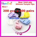 200pcs T2900 7 Colors Sunglass Eyewear Glasses Kids Adult Silicone Anti Slip Ear Hook Temple Tip Sports Holder Free Shipping