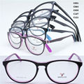 Drop sales 2009 acetate plate full-rim flexi hinge solid dual color rectro optical eyeglasses frame free shipping