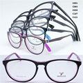 Queda de vendas 2009 de cor sólida dupla de placa de acetato cheia-rim dobradiça flexi rectro óculos ópticos enquadrar frete grátis