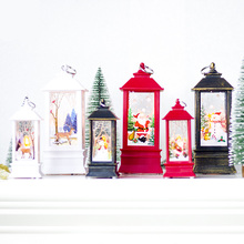 Christmas Decoration Candlestick Pendant Christmas Mini Table Lamp Decor Ornaments Christmas Creative Printed Gift Wind Light