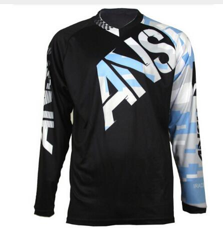 fast air ship Cycling Jersey Downhill Mountain Bike Riding Racing Cross-country long T-shirt Quick-drying MTB DH Mountain Jersey