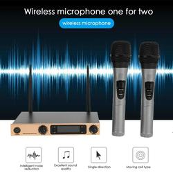 VODOOL 2 Handheld UHF Frequencies Dynamic Capsule 2 Channels Wireless Microphone for Karaoke System High Quality