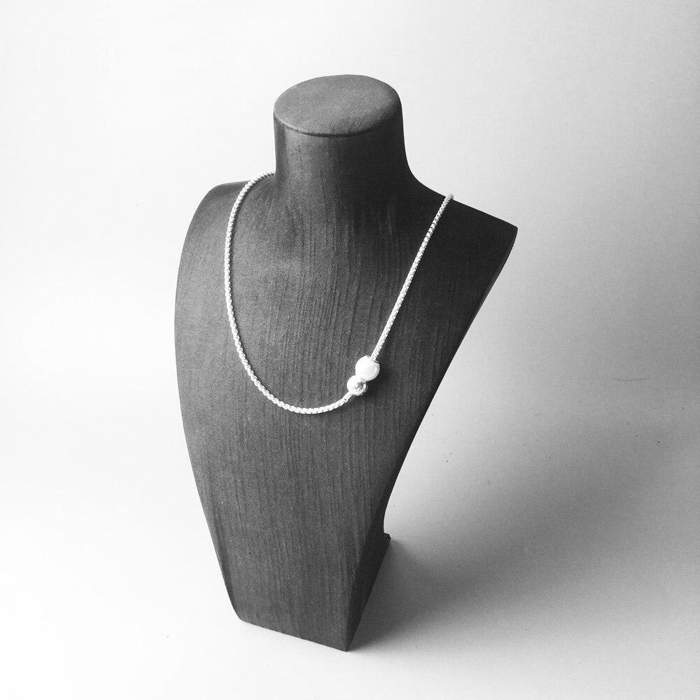 Blackend және Silver Karma Diy Necklace, Еуропа стилі - Сәндік зергерлік бұйымдар - фото 3