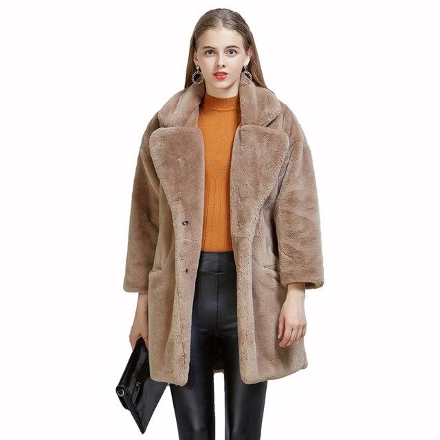 97172ff2120d5 ZADORIN High Quality Women Teddy Coat 2018 Winter Long Furry Faux Fur Coat  Shaggy Jacket Plus Size Pink Fur Coats futro damskie