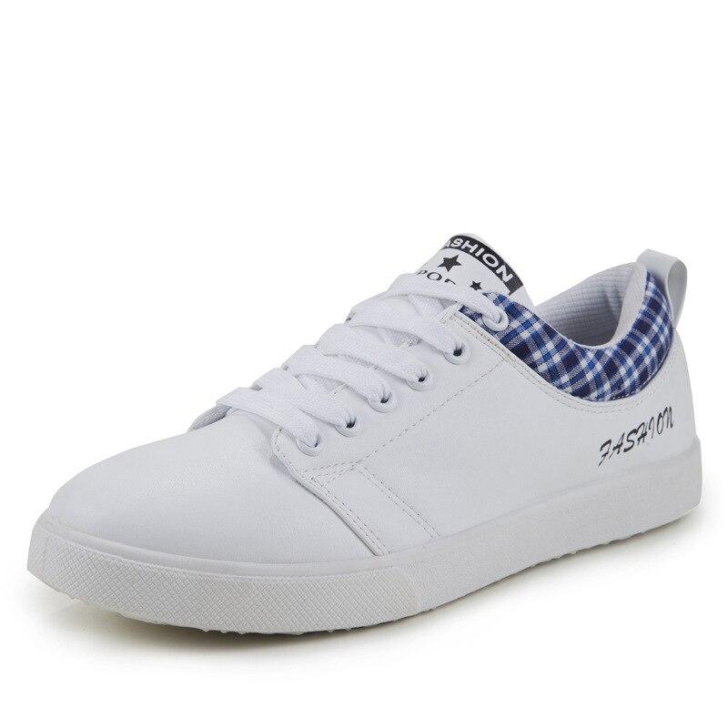 En Cuir marron Blanc Chaussures blanc À Mâle Décontractées Hommes Lacets De Noir 0xAwqZY