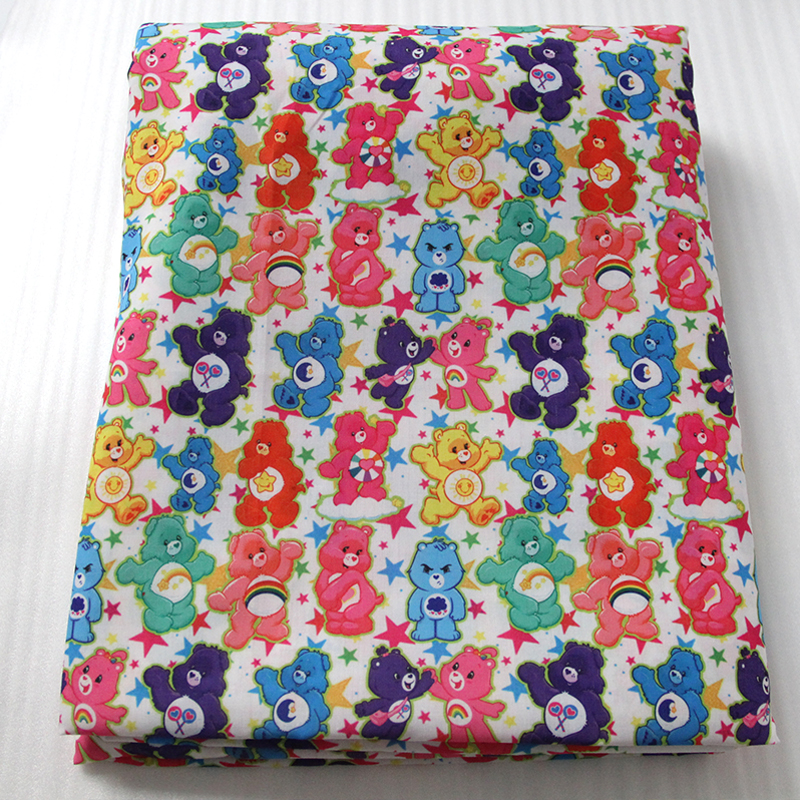 42773 50 147cm cartoon care bears series fabric patchwork for Children s jersey fabric