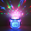 Music Starry Star Sky Projection LED Calendar Thermometer Alarm Clock Desk Clock Night Light for kids Gifts