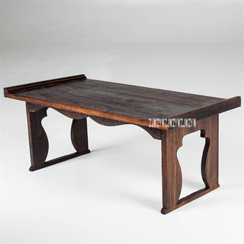 041 Solid Wood Foldable Gongfu Tea Table Household Square Tea Table Tatami Style Balcony Floating Window Folding Tea Table