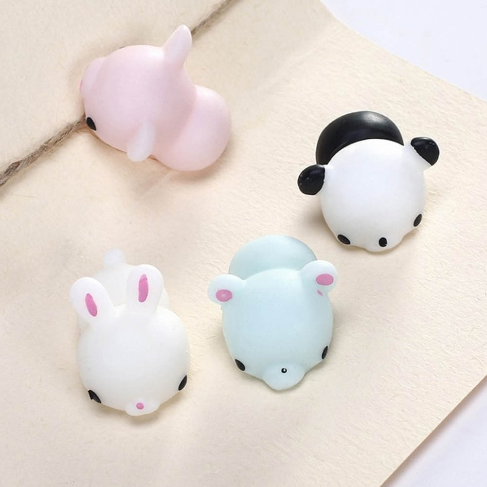 Squishy Cat To Put On Phone : 2017 Cute Squishy Toys Mini Soft Silicone Hand Squeeze Squishy Animals Cat Rubber Squish ...
