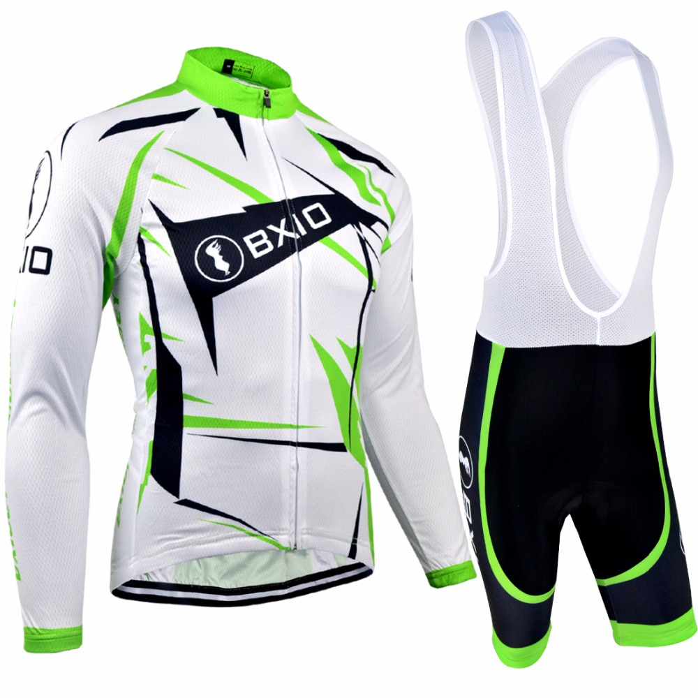 Bxio Long Sleeve Cycling Sets Mountain Bike Clothing Maillot Ciclismo Italie Pro Bicycle Jersey Cuissard Cycliste Equipe 031 santic 2018 pro racing team cycling sets short sleeve bicycle jersey maillot ropa ciclismo breathable mountain bike clothing