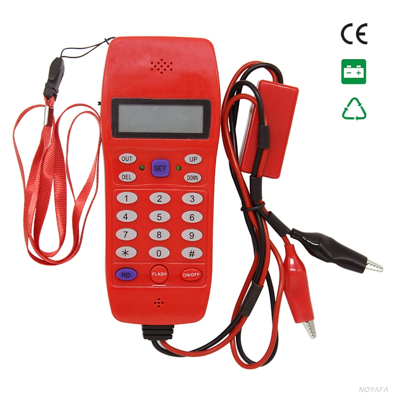 NOYAFA NF-866 Phone cable tester lan phone cable toner tracker for Check Phone FSK and DTM caller ID display automatic detection kelushi nf 866 phone line cable tester telephone fiber optical tool check phone dtmf caller id auto detection search machine