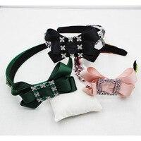 Baroque Rhinestone Crystal Beaded Headband Tiara Bride Crown Luxury Wedding Korean Hair Ornaments 055