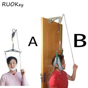 Trakcja szyjna nad drzwiami urządzenie do masażu szyi zestaw nosze regulacja chiropraktyka powrót masażer do głowy relaks tanie i dobre opinie RUOKEY BT011