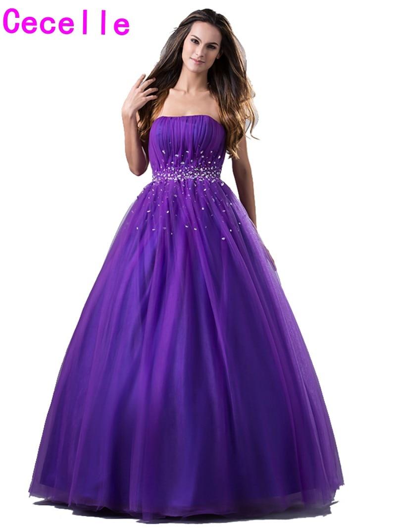 Purple Princess Ball Gown Prom Dresses