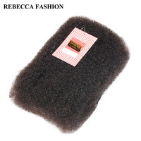Rebecca Brazilian Remy Hair Afro Kinky Curly Bulk Human Hair For Braiding 1 Bundle 50g Pc