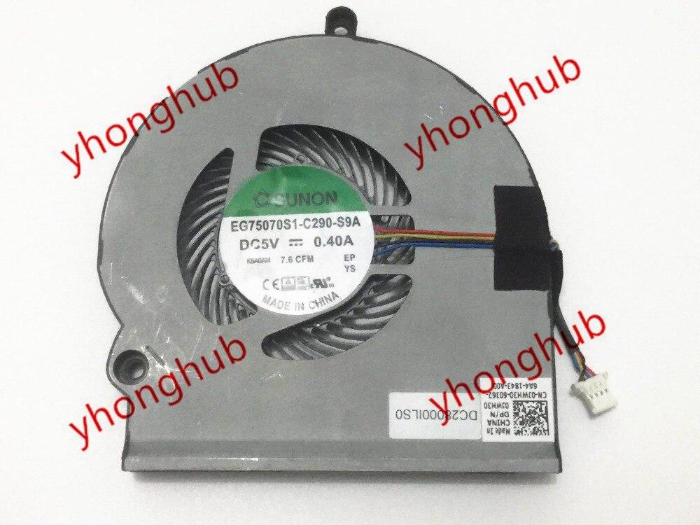 SUNON EG75070S1-C290-S9A 0JWH30 DC 5V 0.40A 4-wire Server Laptop Fan доска для объявлений dz 5 1 j9c 037 jndx 9 s c