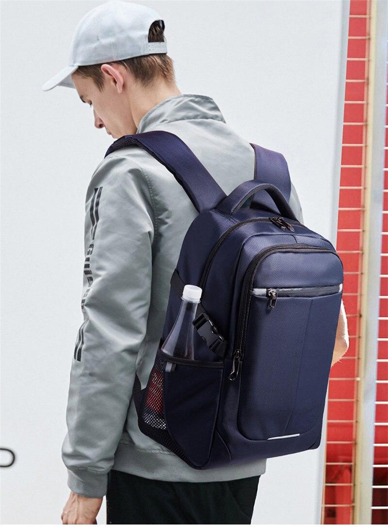 Nesitu Vintage New Large Capacity Black Brown Genuine Leather 14 15.6 Laptop Men Women Backpack Female Travel Bags M6437 Luggage & Bags Men's Bags
