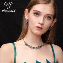 Viennois תכשיטים אופנתיים לנשים צבעוני Zirconia שרשרת ועגילי תכשיטי סט תכשיטים להגדיר עבור נשים