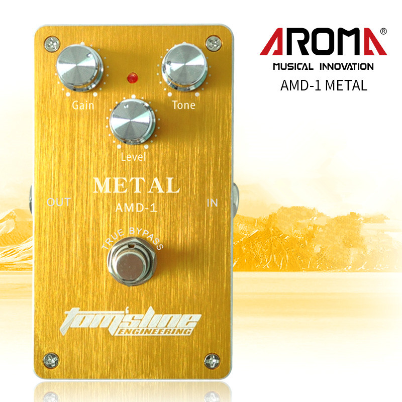 Aroma AMD-1 Metal Distortion Electric Guitar Effect Pedal Aluminum Alloy Housing True Bypass aroma tom sline abr 3 mini booster electric guitar effect pedal with aluminum alloy housing true bypass durable guitar parts