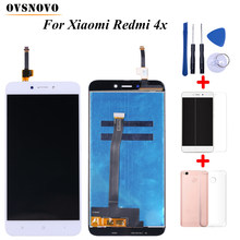 100% Tested LCD For Xiaomi Redmi 4X Display Touch Screen Digitizer Replacement Assembly with frame+Tools&Tempered film&TPU Case(China)