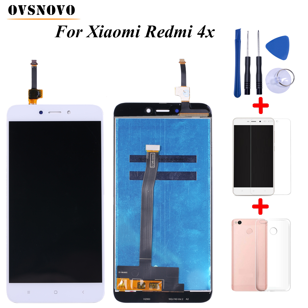 100% Tested LCD For <font><b>Xiaomi</b></font> <font><b>Redmi</b></font> <font><b>4X</b></font> <font><b>Display</b></font> Touch Screen Digitizer Replacement Assembly with <font><b>frame</b></font>+Tools&Tempered film&TPU Case image